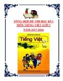 Tổng hợp đề thi học kì 1 môn Tiếng Việt lớp 2 năm 2017-2018