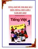 Tổng hợp đề thi học kì 2 môn Tiếng Việt lớp 1 năm 2017-2018