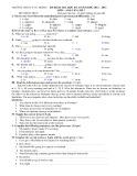 Đề kiểm tra HK 2 môn Anh văn lớp 7 năm 2013 - THCS Lý Tự Trọng