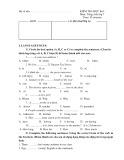 Đề kiểm tra HK 1 môn Anh văn lớp 7 - Mã đề 1