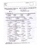 Đề kiểm tra HK 1 môn Anh văn lớp 7 năm 2012 - Mã đề A