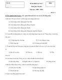 Đề kiểm tra HK 1 môn Ngữ văn lớp 7 năm 2009 - Mã đề 3