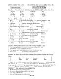 Đề kiểm tra HK 1 môn Anh văn lớp 7 năm 2010