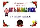 Bài giảng tiếng Anh 7 - Bài 7: The world of work