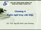 Bài giảng Cơ sở dữ liệu: Chương 4 - ThS. Nguyễn Đình Loan Phương
