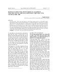 Đánh giá sự bền vững chuyển dịch cơ cấu kinh tế tỉnh Thái Nguyên trên quan điểm phát triển bền vững giai đoạn 2000 - 2009