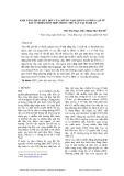 Khả năng phân hủy DDT của chủng nấm sợi FNA1 phân lập từ đất ô nhiễm hỗn hợp thuốc trừ sâu tại Nghệ An