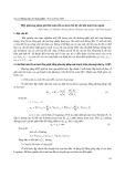 Một phương pháp giải bài toán tối ưu chế độ khi mài tròn ngoài