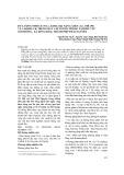 Dư lượng Nitrat ( NO3), kim loại nặng Asen ( As), Chí ( Pb) và Cadimi ( Cd) trong rau cải ngồng trồng tại khu vực Xóm Đông, xã Đồng Bẩm, Thành phố Thái Nguyên