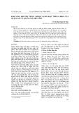 Khả năng hấp phụ thuốc nhuộm xanh hoạt tính 19 (Rb19) của quặng sắt và quặng sắt biến tính