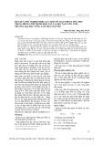 Kết quả thử nghiệm hiệu lực các loại thuốc hóa học trong phòng trừ bệnh đốm nâu lá keo tại vườn ươm trường Đại học Nông Lâm Thái Nguyên