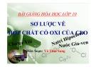 Bài giảng Hóa học 10: Sơ lược về hợp chất có oxi của Clo