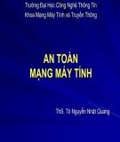 Bài giảng An toàn máy tính: Bài 6 - ThS. Tô Nguyễn Nhật Quang