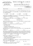 Đề thi KSCL lần 1 môn Vật lí lớp 10 năm 2017-2018 - THPT Quế Võ 1 - Mã đề 101