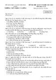 Đề thi HK 2 môn Địa lí lớp 12 năm 2018 - THPT Phạm Văn Đồng - Mã đề 357