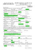 Đề thi HK 2 môn Hóa học lớp 12 năm 2017-2018 - THPT Lương Phú - Mã đề 626