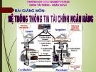 Bài giảng Hệ thống thông tin tài chính ngân hàng: Chương 0 -  ĐH Công nghiệp