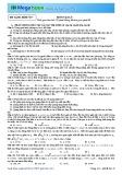Luyện đề THPT Quốc gia môn Vật lý năm 2015 - Đề 7