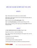 Bộ 25 đề thi học kì môn Ngữ văn lớp 6
