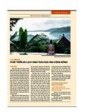 Indonesia - Phát triển du lịch sinh thái dựa vào cộng đồng