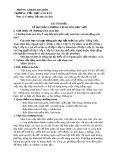 Bài tìm hiểu về dự thảo chương trình môn học mới - Trường TH Sào Báy