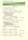 Sự đồng biến, sự nghịch biến của hàm số