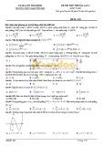 Đề thi thử THPT Quốc gia lần 3 môn Toán - Sở GD&ĐT Thái Bình - Mã đề 202