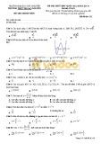 Đề thi thử THPT QG môn Toán lần 3 - Trường Đại học Tây Nguyên - Mã đề 132