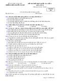 Đề thi khảo sát giữa HK 2 môn GDCD lớp 10 - THPT Nguyễn Văn Cừ - Mã đề 020