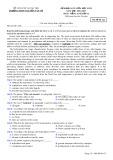 Đề khảo sát giữa HK 2 môn tiếng Anh lớp 12 năm 2016-2017 - THPT Nguyễn Văn Cừ - Mã đề 122