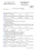 Đề KSCL môn Vật lí lớp 12 năm 2016-2017 - THPT Nguyễn Văn Cừ - Mã đề 015