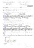 Đề thi KSCL môn Hóa học lớp 12 - THPT Nguyễn Văn Cừ - Mã đề 020