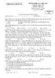 Đề thi khảo sát giữa HK 2 môn Vật lí lớp 10 năm 2016-2017 - THPT Nguyễn Văn Cừ - Mã đề 024
