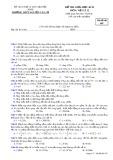 Đề KSCL môn Vật lí lớp 12 năm 2016-2017 - THPT Nguyễn Văn Cừ - Mã đề 007