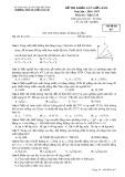 Đề thi khảo sát giữa HK 2 môn Vật lí lớp 10 năm 2016-2017 - THPT Nguyễn Văn Cừ - Mã đề 017