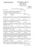 Đề thi khảo sát giữa HK 2 môn Vật lí lớp 10 năm 2016-2017 - THPT Nguyễn Văn Cừ - Mã đề 010