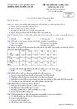 Đề thi kiểm tra giữa HK 2 môn Địa lí lớp 10 - THPT Nguyễn Văn Cừ - Mã đề 004