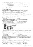 Đề thi HK 2 môn Hóa học lớp 10 năm 2018 - Sở GD&ĐT Quảng Nam - Mã đề 309