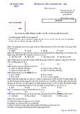 Đề KSCL lần 1 môn Hóa học lớp 12 năm 2017-2018 - Sở GD&ĐT Vĩnh Phúc - Mã đề 261