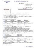 Đề KSCL lần 1 môn Hóa học lớp 12 năm 2017-2018 - Sở GD&ĐT Vĩnh Phúc - Mã đề 335