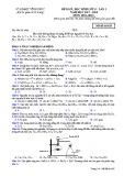 Đề KSCL lần 1 môn Hóa học lớp 11 năm 2017-2018 - Sở GD&ĐT Vĩnh Phúc - Mã đề 628