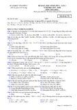 Đề KSCL lần 1 môn Hóa học lớp 11 năm 2017-2018 - Sở GD&ĐT Vĩnh Phúc - Mã đề 570