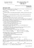 Đề KSCL lần 1 môn Vật lí lớp 10 năm 2017-2018 - Sở GD&ĐT Vĩnh Phúc - Mã đề 485