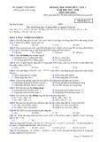 Đề KSCL lần 1 môn Hóa học lớp 11 năm 2017-2018 - Sở GD&ĐT Vĩnh Phúc - Mã đề 132