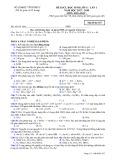 Đề KSCL lần 1 môn Hóa học lớp 11 năm 2017-2018 - Sở GD&ĐT Vĩnh Phúc - Mã đề 357