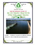 Thuyết minh dự án đầu tư: Dự án trang trại nuôi tôm thẻ chân trắng thương phẩm tỉnh Bến Tre
