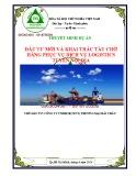 Dự án đầu tư mới và khai thác tàu chở hàng phục vụ dịch vụ logistics tuyến nội địa