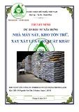 Thuyết minh dự án đầu tư xây dựng: Nhà máy sấy, kho tồn trữ, xay xát lúa gạo xuất khẩu