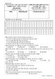Đề kiểm tra chất lượng HK 1 môn Sinh học lớp 10 năm 2014-2015 - THCS&THPT Tà Nung - Mã đề 209
