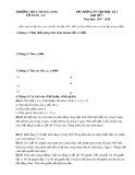 Đề cương ôn thi HK 1 môn Đại số lớp 7 năm 2017-2018 - THCS Thăng Long